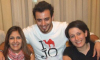 Basel Khoury at his house after reaching back amman when he left star academy season seven with his family and friends