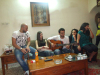 Basel Khoury at his house after reaching back amman when he left star academy season seven with his friends including Mohamad Qwaider