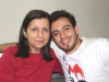 Basel Khoury at his house after reaching back amman when he left star academy season seven with his mother