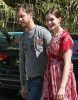 Anne Hathaway seen with her boyfriend Adam Shulman while wearing ared casual maxi dress on April 9th 2010 in Studio City 1