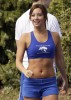 Ashely Tisdale seen wearing blue sportswear on April 16th 2010 while at the set of the CW pilot Hellcats in Vancouver Canada 2