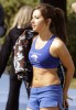 Ashely Tisdale seen wearing blue sportswear on April 16th 2010 while at the set of the CW pilot Hellcats in Vancouver Canada 4