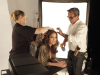 Jennifer Lopez behind the scenes of a studio photo shoot for Allure Magazine 1