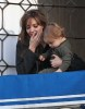 Knox Jolie Pitt drops his doll bunny off his the balcony while with his mother Angelina Jolie on April 9th 2010 in Venice Italy 4