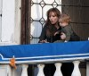 Knox Jolie Pitt drops his doll bunny off his the balcony while with his mother Angelina Jolie on April 9th 2010 in Venice Italy 1