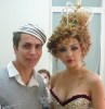 miriam fares backstage on April 23rd 2010 at the 10th prime of star academy seven while getting her makeup and hair done 3