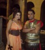 Haifa Wehbe photo while on the filming set of the latest 2010 video clip wearing a roman style dress 4