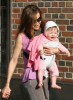 Sarah Jessica Parker spotted on April 7th 2010 holding her daughter as she takes her son James Wilkie to school 1