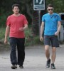 Wentworth Miller spotted wearing a red tshirt as he goes for a hike on April 15th 2010 in Los Angeles 2