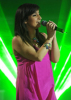 the 8th prime of star academy 2010 on April 9th 2010 picture of zaina Aftimos singing on stage