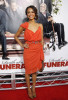 Zoe Saldana at the premiere of Death At A Funeral held on April 13th 2010 at the Arclight Cinerama Dome in Hollywood 2