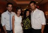 Zachary Quinto together with Josh Duhamel and Fergie at the May 2010 cover celebration of Elle Magazine on April 9th 2010 at NYCs Crosby Street Hotel 2