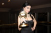 Haifa Wehbe at the ART Award as best singer actress for her role in Dokkan Shahata during the ceremony held in Cairo Egypt 4