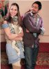 Tamer Hosni and Mena Shalabi picture during their new movie Noor Aini 3
