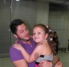 Lebanese student Rayan Eid backstage at the 12th prime of staracademy season seven which was held on Friday May 7th 2010 with a little cute fan