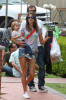 Alessandra Ambrosio picture with her boyfriend Jamie Mazur and their daughter Anja Louise buying some flowers on April 26th 2010 in Santa Monica market 3