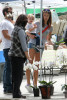 Alessandra Ambrosio picture with her boyfriend Jamie Mazur and their daughter Anja Louise buying some flowers on April 26th 2010 in Santa Monica market 2