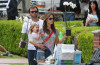 Alessandra Ambrosio picture with her boyfriend Jamie Mazur and their daughter Anja Louise buying some flowers on April 26th 2010 in Santa Monica market 4