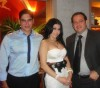 Haifa Wehbe picture with her husband Ahmed abo Hashimah wearing a strapless dress
