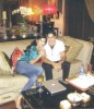 Haifa Wehbe picture with her husband Ahmed abo Hashimah at their living room inside their house