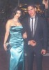 Haifa Wehbe picture with her husband Ahmed abo Hashimah wearing a stylish blue dress