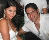 Haifa Wehbe picture with her husband Ahmed abo Hashimah wearing a white dress