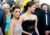 Aishwarya Rai picture with Eva Longoria Parker on May 14th 2010 as they attend the opening night at the 63rd Annual Cannes Film Festival 2