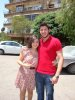 Zena Aftimos picture with her friend Rayan Eid from Lebanon