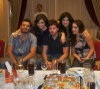 Basel Khoury at the birthday party of Syrian student Zaina with Aline Kassis and Zena Aftimos and Jack Haddad