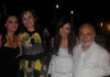 Aline Kessis picture at her birthday party held at one of Beirut restaurants with acting Teacher Michel Jaber along with Syrian student Zena Aftimos and her mother