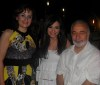 picture of Zena Aftimos from Syria at the birthday party of Aline Kessis held at one of Beirut restaurants with her mother and acting teacher Michel Jaber