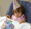 Recent pictures of Nancy Ajrams baby girl Mila during her celebration of her one year old birthday party in May 2010 at her house in Lebanon 2