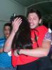 Tahra Hmamich photo while leaving star academy Adma building after the prime while hugging Lebanese student Rayan Eid