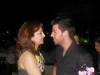Star Academy Student Jack Haddad at the birthday party of Aline Kessis held at one of Beirut restaurants with Zenas mom