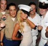 Paris Hilton attends the USO Swinging Salute to our Troops Fleet Week kick off at The Union Square Ballroom on May 26th 2010 in New York City 6