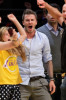 David Beckham attends Game Five of the Western Conference Finals during the 2010 NBA Playoffs at Staples Center on May 27th 2010 in Los Angeles 6