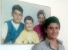 Naseef Zeiton as a young teenager at his house in Syria