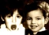 Rahma Ahmad photo as a little girl nwxt to a picutre of Mohamad Ramadan when he was also a baby