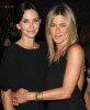 Jennifer Aniston and Courteney Cox attend the 2010 Crystal Lucy Awards and A New Era held on June 1st 2010 at the Hyatt Regency Century Plaza in Calif 1