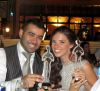 picture of Lara Scandar at the 2010 Mema Awards together with Bashar Shati