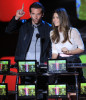 Bradley Cooper and Jessica Biel on stage at the 2010 MTV Movie Awards held at the Gibson Amphitheatre on June 6th 2010 at Universal Studios in California 1