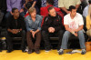 Chris Rock seen with David Spade and Kevin James and Adam Sandler at the game 1 of the NBA Finals at the Staples Center on June 3rd 2010 in Los Angeles 3