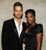 singer Estelle together with Ricky Martin at the 2010 amfAR New York Inspiration Gala held on June 3rd 2010 at The New York Public Library 3