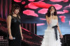 pictrure of the Star Academy 7 prime 16th finale during the performance of singer Elissa on stage singing with Tunisian student Badria Sayed