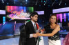 pictrure of the Star Academy 7 prime 16th finale while Nassif Zeitoun od Syria is announced as the winner and handed the trophy by Madam Rola Saed 2