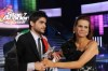 pictrure of the Star Academy 7 prime 16th finale while Nassif Zeitoun od Syria is announced as the winner and handed the trophy by Madam Rola Saed 3