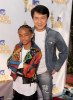 Jaden Smith and Jackie Chan at the 2010 MTV Movie Awards held at the Gibson Amphitheatre on June 6th 2010 at Universal Studios in California 5
