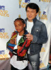 Jaden Smith and Jackie Chan at the 2010 MTV Movie Awards held at the Gibson Amphitheatre on June 6th 2010 at Universal Studios in California 1