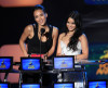 Jessica Alba and Vanessa Hudgens speak onstage at the 2010 MTV Movie Awards held at the Gibson Amphitheatre on June 6th 2010 at Universal Studios in California 3