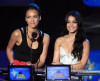 Jessica Alba and Vanessa Hudgens speak onstage at the 2010 MTV Movie Awards held at the Gibson Amphitheatre on June 6th 2010 at Universal Studios in California 4